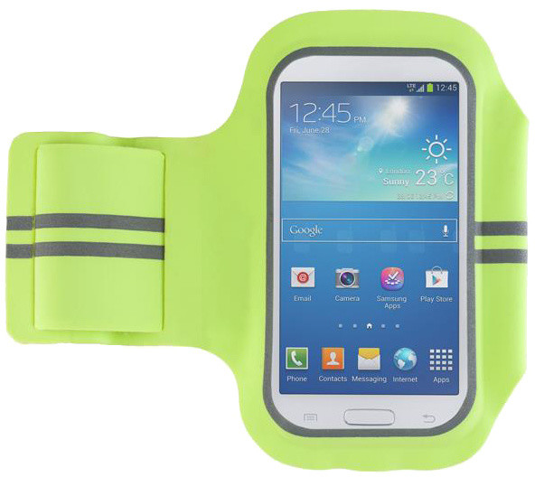 """Forever pouzdro na ruku 5.0"""" slim, látkové s reflexními prvky - zelené"""