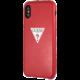 GUESS PU Leather Case Triangle pro iPhone XS Max, červená  + Při nákupu nad 500 Kč Kuki TV na 2 měsíce zdarma vč. seriálů v hodnotě 930 Kč