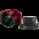 Nikon Coolpix B600, červená + brašna