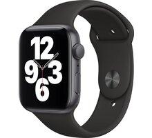 Apple Watch SE, 44mm, Space Gray, Black Sport Band O2 TV Sport Pack na 3 měsíce (max. 1x na objednávku)