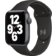 Apple Watch SE, 44mm, Space Gray, Black Sport Band Epico řemínek Canvas pro Apple Watch 42/44mm, modrá v hodnotě 549 Kč