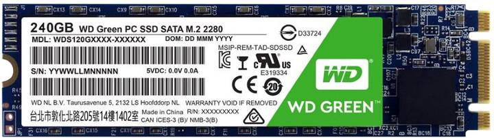 WD SSD Green, M2 2280 - 240GB
