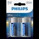 Philips D ExtremeLife+, alkalická - 2ks