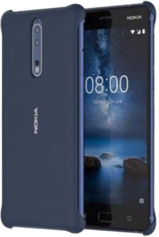 Nokia 8 Soft Touch pouzdro, modrá