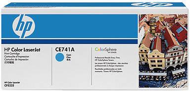 HP CE741A, azurová