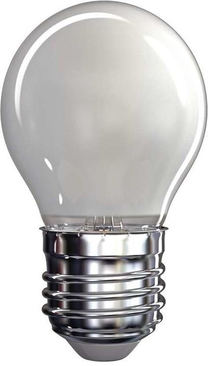 Emos LED žárovka Filament Mini Globe A++ matná 4W E27, teplá bílá