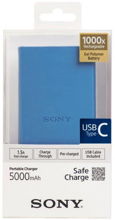 SONY CP-V5BBLC, 5000mAh, USB-C, modrá