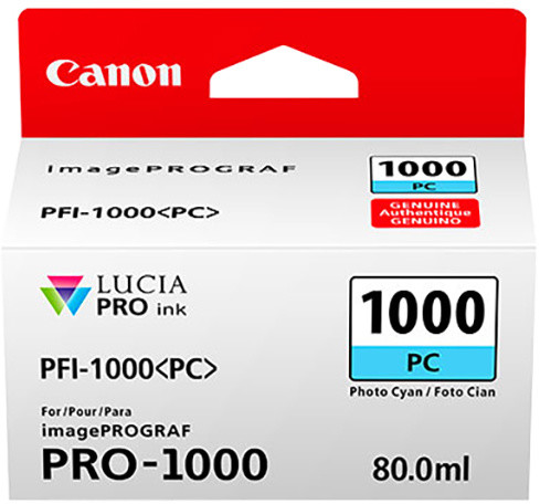 Canon PFI-1000PC, photo cyan