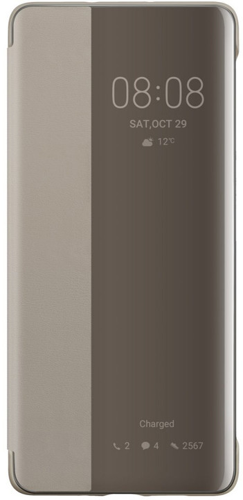 Huawei Original S-View pouzdro pro P30 Pro, khaki