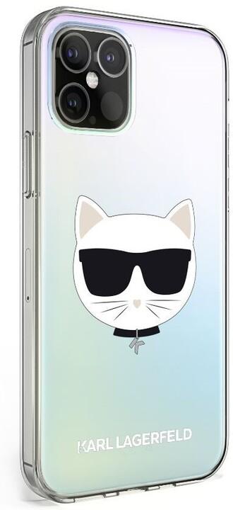 "KARL LAGERFELD ochranný kryt Choupette Head pro iPhone 12 Mini (5.4""), TPU, duhová"