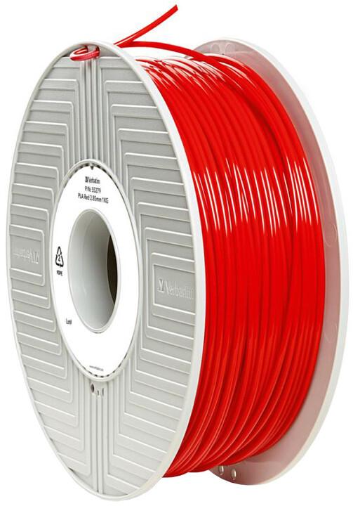 Verbatim tisková struna (filament), PLA, 2,85mm, 1kg, červená