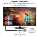 Club3D kabel DisplayPort 1.4, M/M, 4K@120Hz, aktivní, optický, 20m, černá