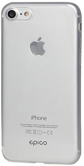 EPICO plastový kryt RONNY GLOSS pro iPhone 7/8/SE (2020), bílá transparentní