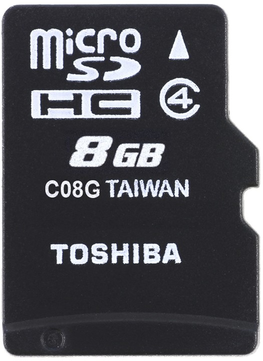Toshiba Micro SDHC 8GB Class 4 + SD adaptér