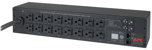 APC rack PDU, měřené, 2U, 30A, 120V, (16) 5-20