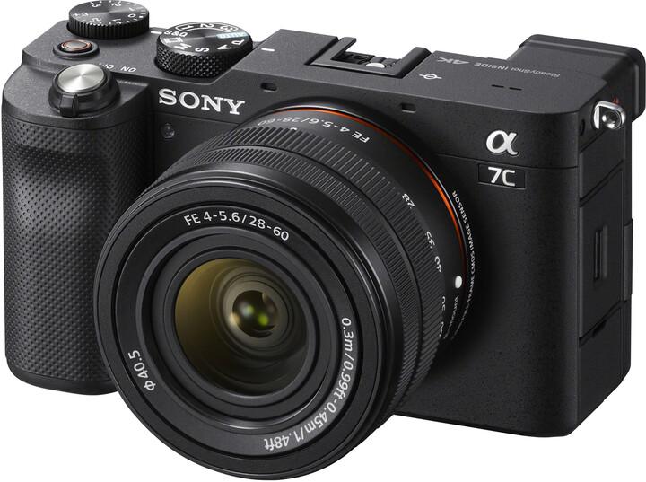 Sony Alpha 7C + 28 - 60mm, černá