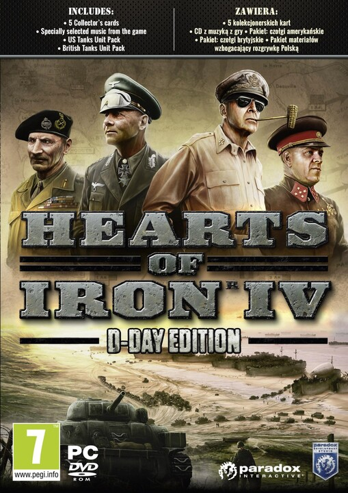 Hearts of Iron IV - D-Day Edition (PC)
