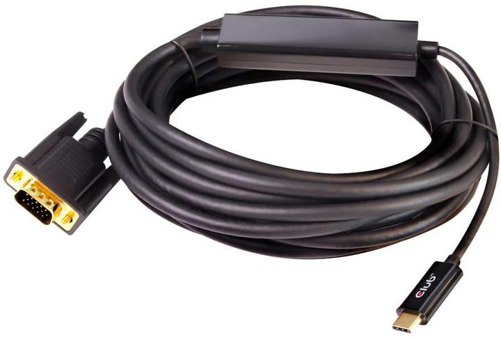 Club3D kabel USB Typ C na VGA (M/M), 5m