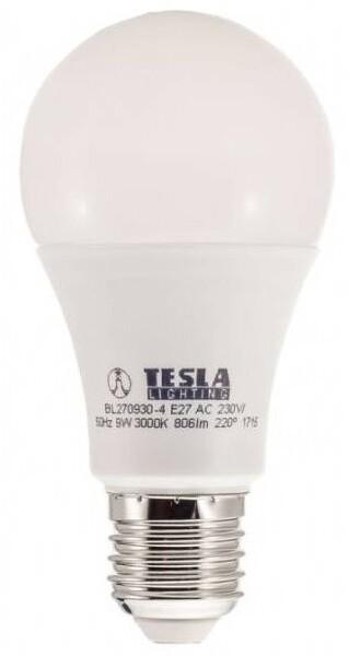 TESLA LED žárovka BULB, E27, 9W, 3000K, teplá bílá