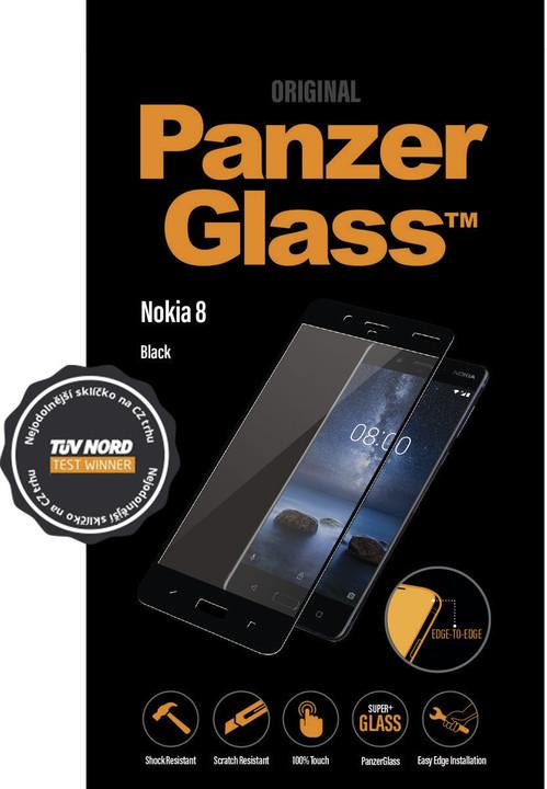 PanzerGlass Edge-to-Edge pro Nokia 8, černé