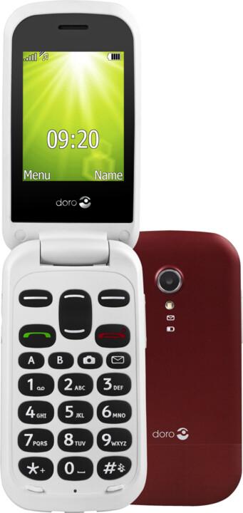 Doro 2404, červeno/bílá