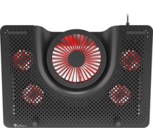 """Genesis chladící podložka Oxid 550, 1x USB, pro notebooky 15.6-17.3"""", 5 ventilátorů, červené led, - NHG-1411"""