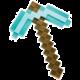 Replika Minecraft - Diamond Pickaxe (50 cm)
