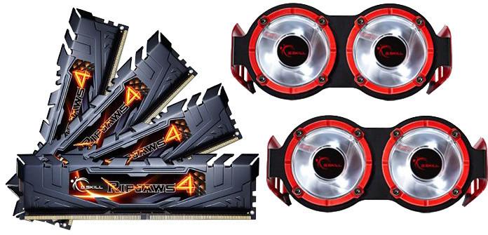 G.SKill Ripjaws4 16GB (4x4GB) DDR4 3200, CL16, black