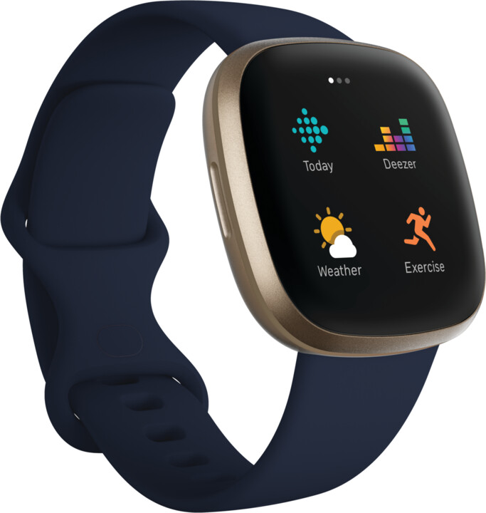 Fitbit Versa 3, Midnight Soft Gold