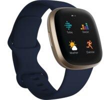 Fitbit Versa 3, Midnight Soft Gold - FB511GLNV