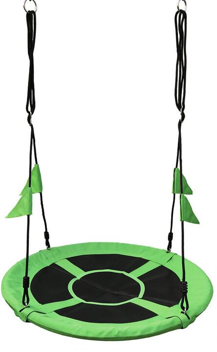 Houpačka DvěDěti, čapí hnízdo, zelené