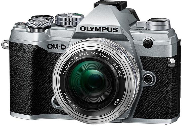 Olympus E-M5 Mark III + 14-42mm EZ stříbrná/černá