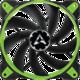 Arctic BioniX F120, eSport fan, zelená - 120mm