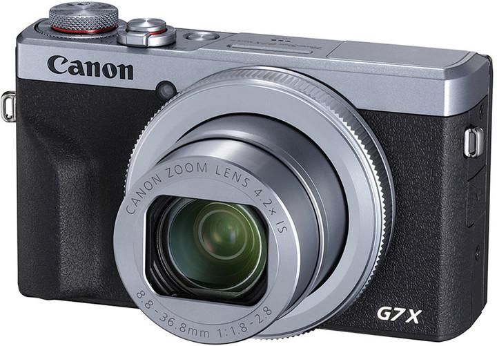 Canon PowerShot G7 X Mark III, stříbrná