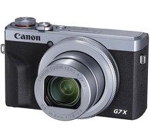 Canon PowerShot G7 X Mark III, stříbrná - 3638C002 + Paměťová karta SDHC XC 64GB v hodnotě 499 Kč