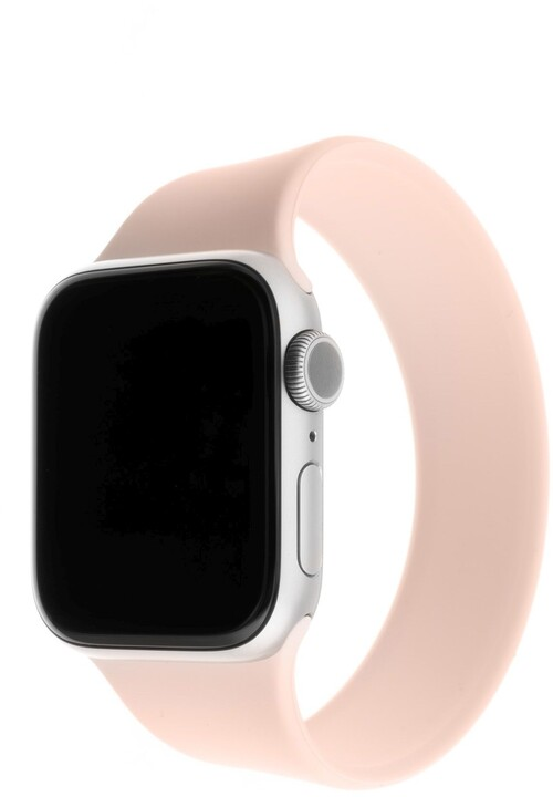 FIXED silikonový řemínek pro Apple Watch, 38/40mm, elastický, velikost XS, růžová