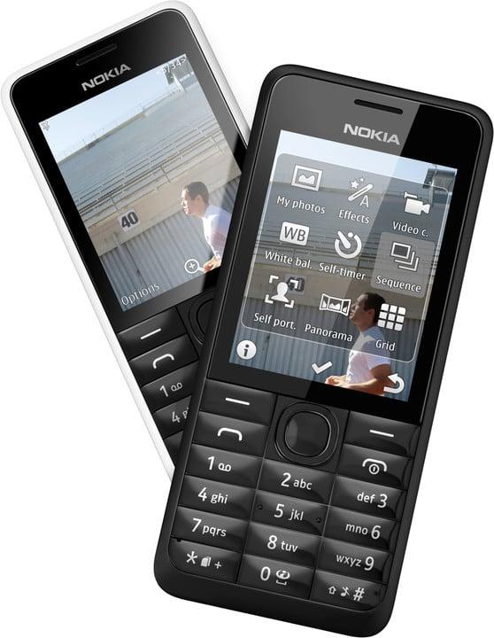 Nokia 301, bílá