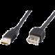 PremiumCord USB 2.0, A-A prodlužovací - 0,5m, černá