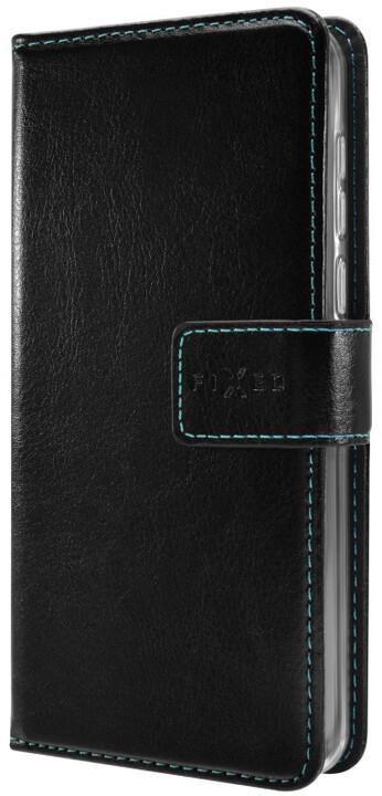 FIXED Opus pouzdro typu kniha pro Motorola Moto E4 Plus, černé
