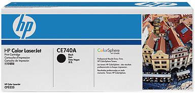 HP CE740A, černá