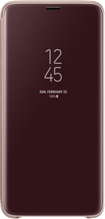 Samsung flipové pouzdro Clear View se stojánkem pro Samsung Galaxy S9+, zlaté