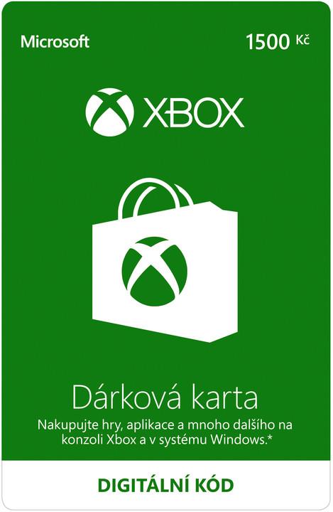 Microsoft Xbox Live dárková karta 1500 Kč (elektronicky)