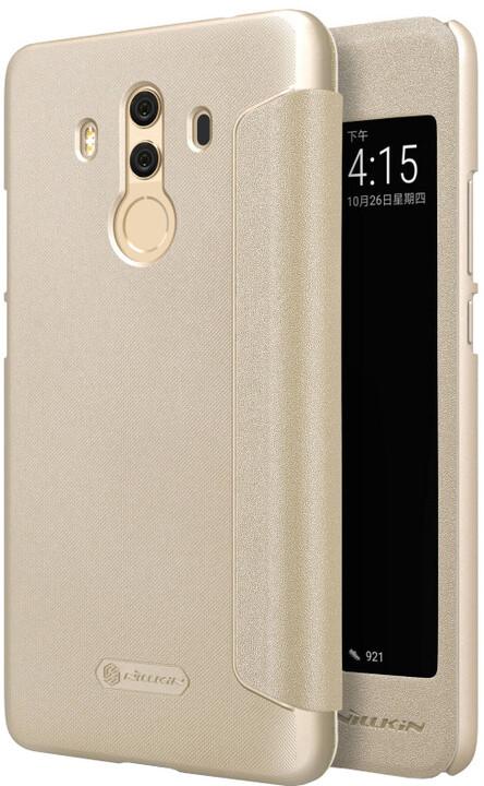 Nillkin Sparkle S-View pouzdro pro Huawei Mate 10 Pro, Gold