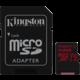 Kingston Micro SDXC Canvas React 512GB 100MB/s UHS-I U3 + SD adaptér