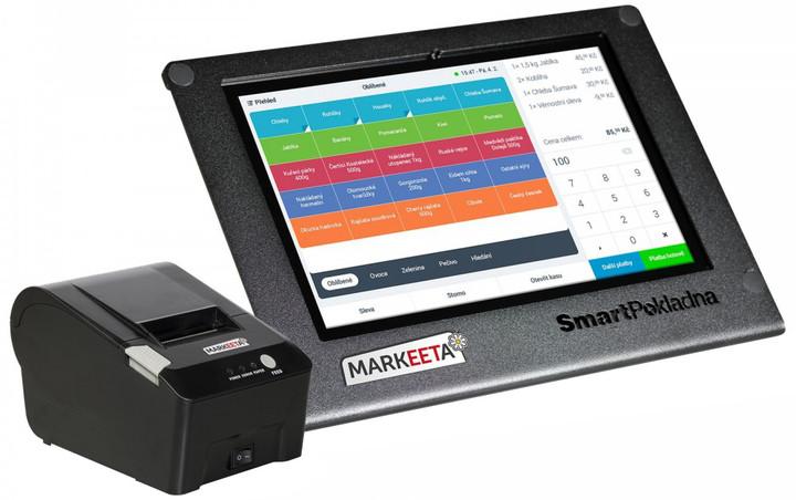 Markeeta Pokladnička = SmartPokladna 10 + tiskárna + SW s aktualizací a podporou na 2roky