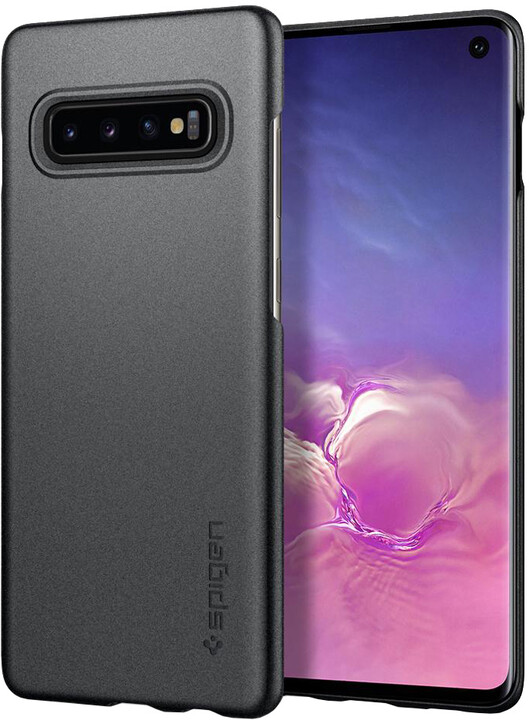 Spigen Thin Fit Galaxy S10, šedá