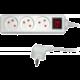 Sencor prodlužovací přívod, 3 zásuvky, s vypínačem, 3m, bílá