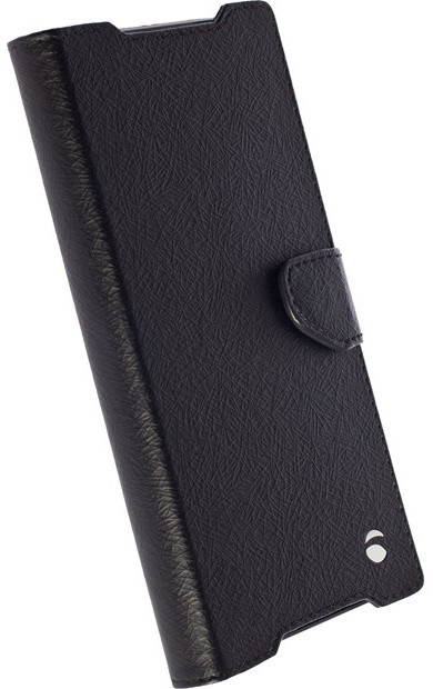 Krusell polohovací pouzdro BORAS FolioWallet pro Sony Xperia Z5 Premium, černá