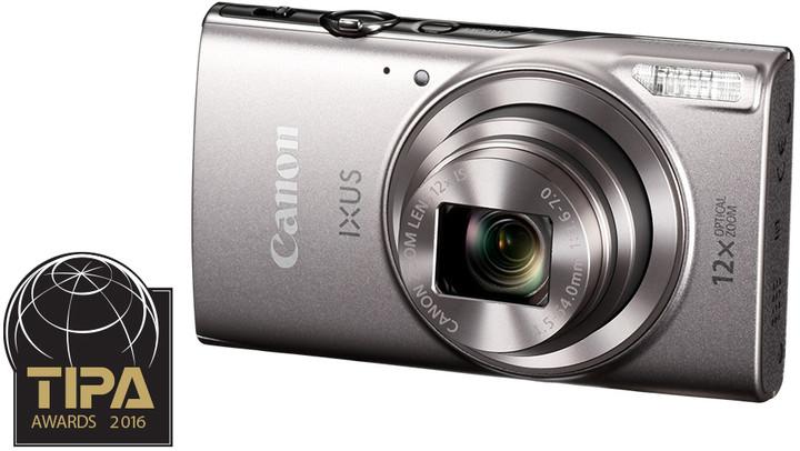 Canon IXUS 285 HS, stříbrná