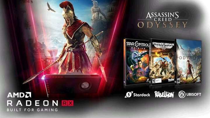 AMD kupon na 3 hry (Assassin's Creed Odyssey, Strange Brigade a Star Control: Origins)